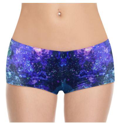 Hot Pants - Purple Nebula Galaxy Abstract