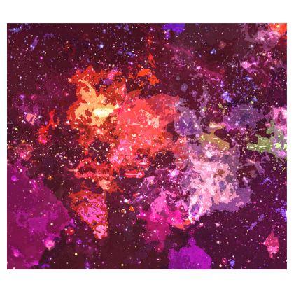 Kimono - Red Nebula Galaxy Abstract
