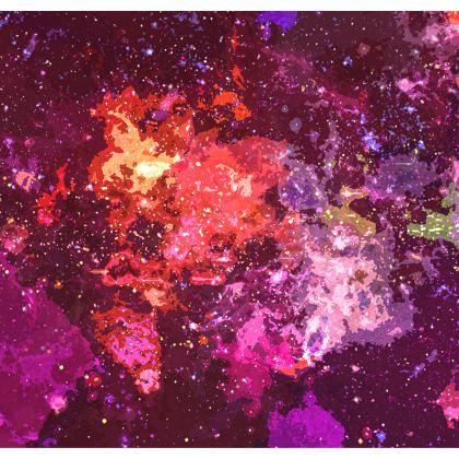 Kimono Jacket - Red Nebula Galaxy Abstract
