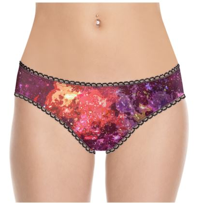 Knickers - Red Nebula Galaxy Abstract