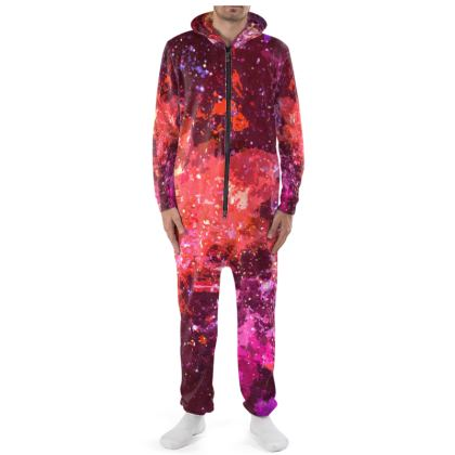 Onesie - Red Nebula Galaxy Abstract