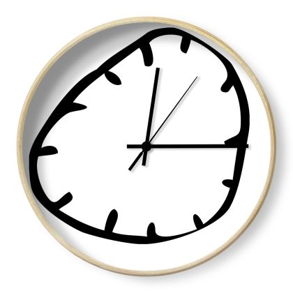 Face Time, Black and White Wall Clock