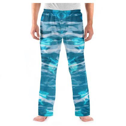 Men's Pyjama Bottoms - Shark Ocean Abstract