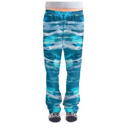 Ladies Pyjama Bottoms - Shark Ocean Abstract