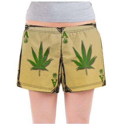 Ladies Pyjama Shorts - Ace of Weed Full