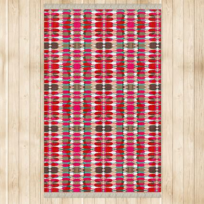 Red Teasel Geo Rug
