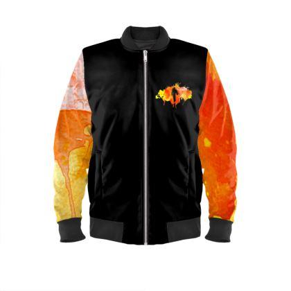 Men's Bomber Jacket - Fire Man
