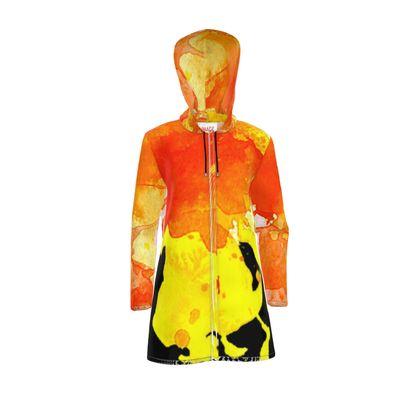 Women's Hooded Rain Mac - Fire Man