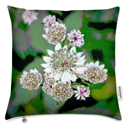 """FLORAL PRINTED CUSHION IN """"ASTRANTIA"""""""