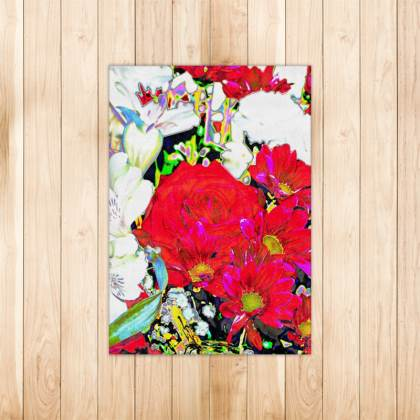 FLORAL PRINTED RUG IN VIBRANT BOUQUET