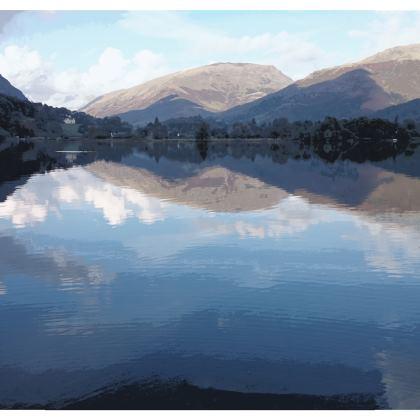 Ladies Bomber Jacket - Lake District (No Sleeve)