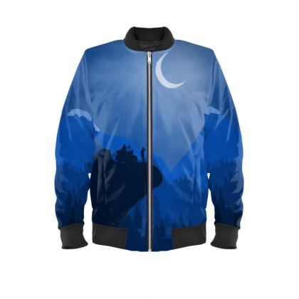 Mens Bomber Jacket - Motorcycle Camping (With Sleeves)
