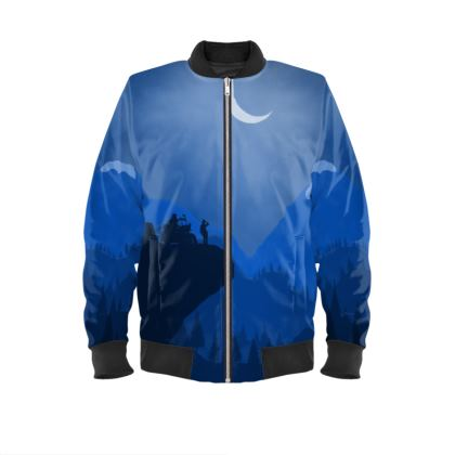 Ladies Bomber Jacket - Motorcycle Camping (With Sleeves)