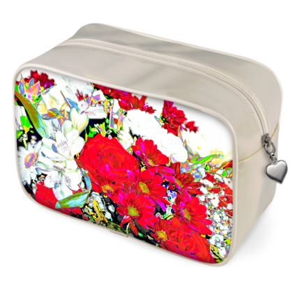 """PRINTED WASHBAG IN """"VIBRANT BOUQUET"""""""