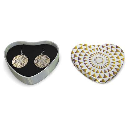 Sterling Silver Earrings Mandala Gold Torus
