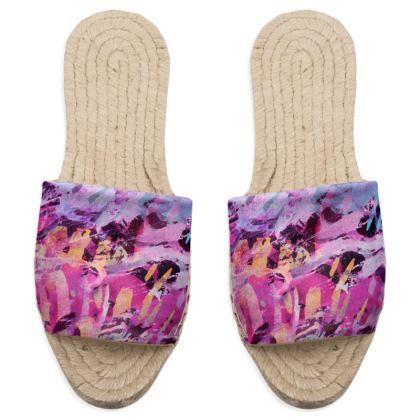 Sandal Espadrilles Watercolor Texture 7