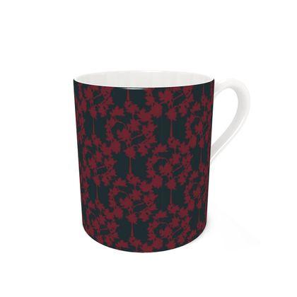 Autumnal Forest Pattern ~ Burning Charcoal Coffee Mug