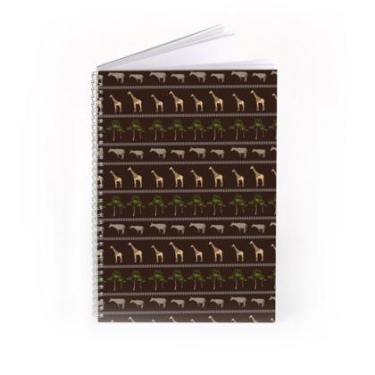 Giraffe & Okapi Print Notebook