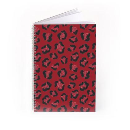 Strawberry Leopard Print Spiral Notebook