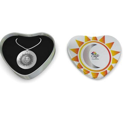 Sun And Moon Sterling Silver Necklace