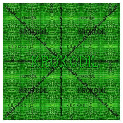 Premium Kissen green Krokodil