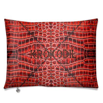 Premium Kissen RED kroko