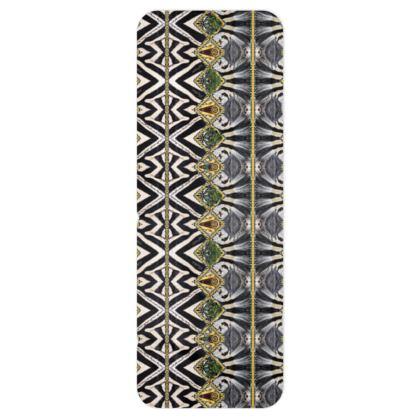 XXL Fleece Schal Zebra green