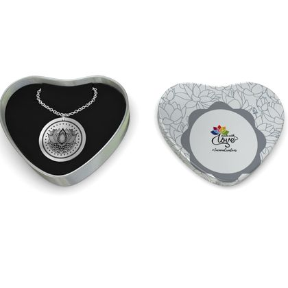 Lotus Mandala Sterling Silver Necklace