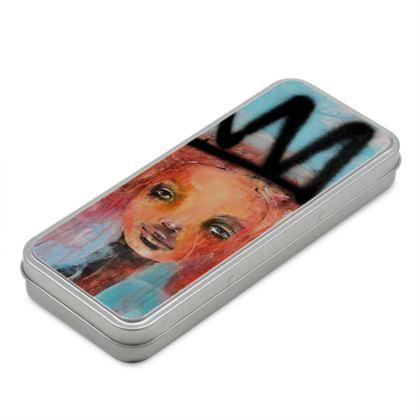 Crown pencil case box