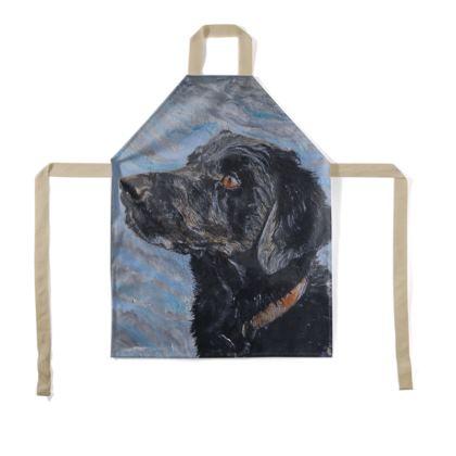 Rufus the Black Labrador Retriever Fine Art Print Luxury Apron by Somerset (UK) Artist and Designer Amanda Boorman