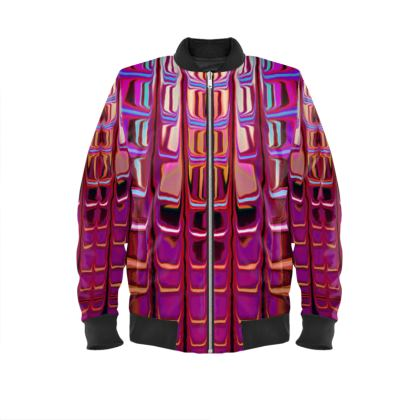 Ladies Bomber Jacket Abstract Painting 2