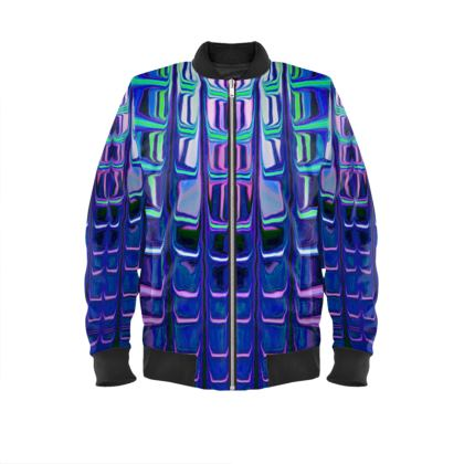 Ladies Bomber Jacket Abstract Painting 3