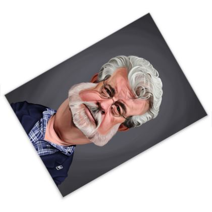 George Lucas Celebrity Caricature Postcard