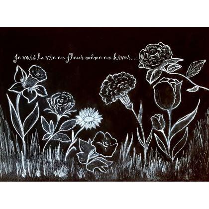 Un sac fleuri