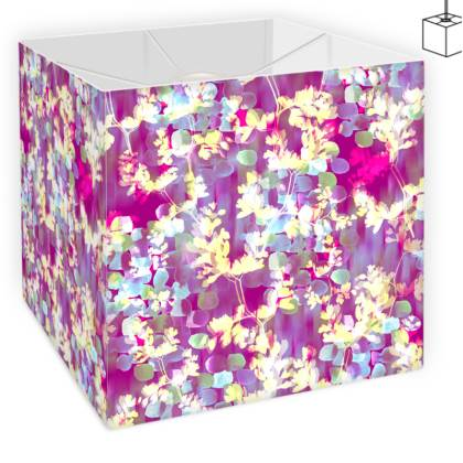 'Eclectic Blossom' Square Lamp Shade