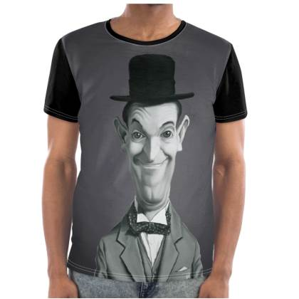 Stan Laurel Celebrity Caricature Cut and Sew T Shirt