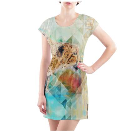 Cheetah T-Shirt Dress - UK Size 18/20 (XL)