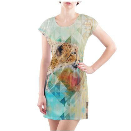 Cheetah T-Shirt Dress - UK Size 14/16 (L)