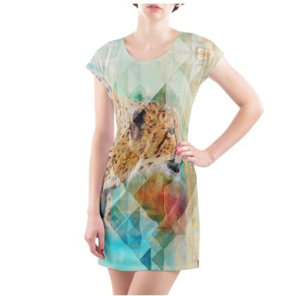 Cheetah T-Shirt Dress - Available from UK Size 2 to 32