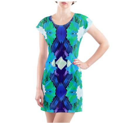 Blue Lagoon T-Shirt Dress - UK Size 22/24 (2XL)