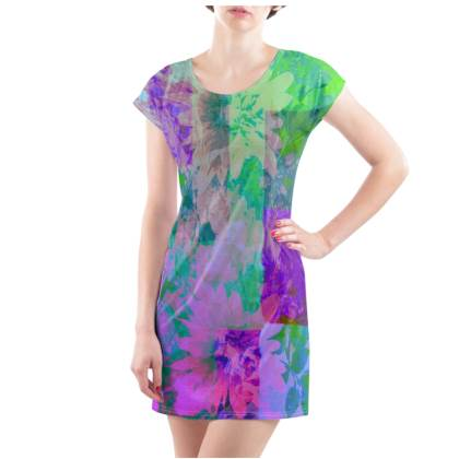 Lilac & Lime T-Shirt Dress - UK Size 22/24 (2XL)