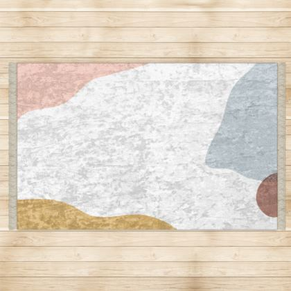 Floor Rug - Abstract Pastel Stone