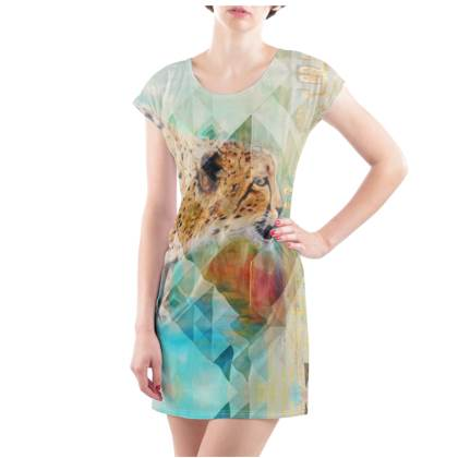 Cheetah T-Shirt Dress - UK Size 22/24 (2XL)