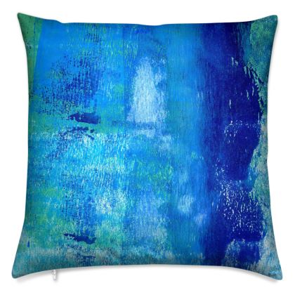 Multi Tonal Blue Throw Cushion