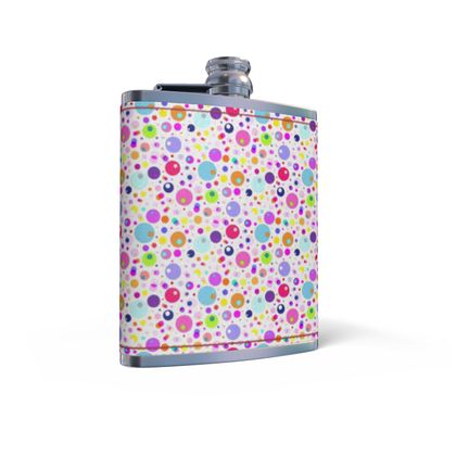 Atomic Collection Leather Wrapped Hip Flask