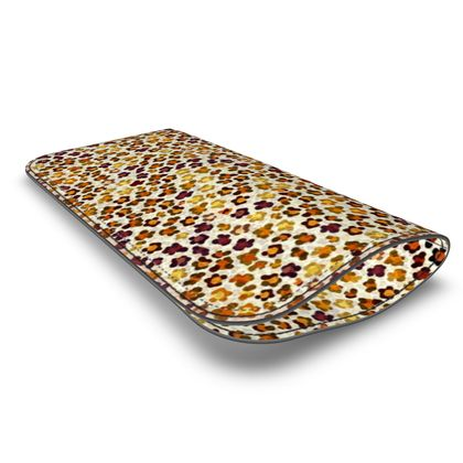 Leopard Skin Collection Leather Glasses Case