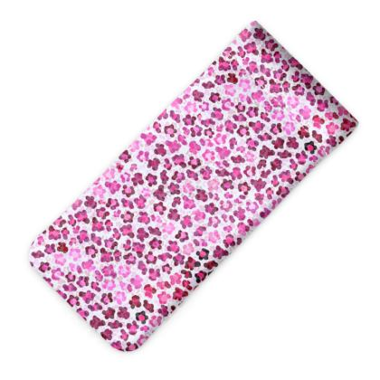 Leopard Skin in Magenta Collection Glasses Case Pouch
