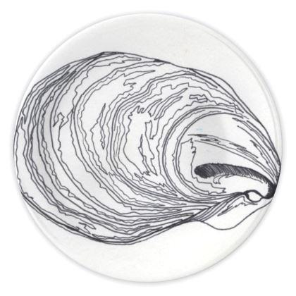 Oyster Shell China Plates