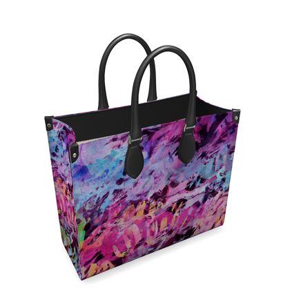 Leather Shopper Bag Watercolor Texture 7