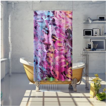 Shower Curtain Watercolor Texture 7